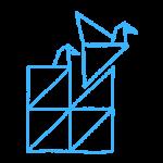 logo tekstbrigade blauw transparant