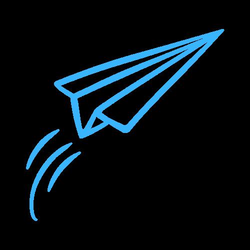 papieren vliegtuigje tekstbrigade