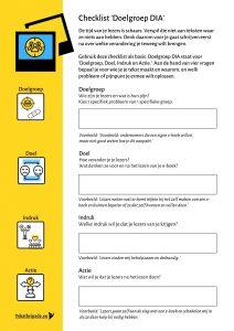Doelgroep DIA checklist